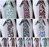 """Floral Paisley 2.75"""" Skinny 100%Cotton Men's Tie Necktie Pocket Square Set J5"""