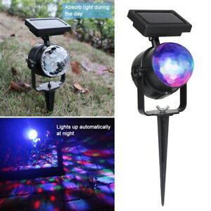LED Solar Spot Lights Garden Party Colour Changing Stage Light