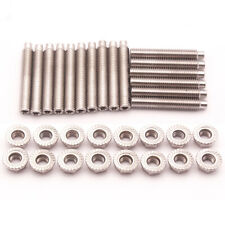 16pcs Exhaust Manifold Header Stainless Steel Bolts For Ford F150 V8 4.6L 5.4L