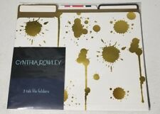 Cynthia Rowley 3 Tab File Folders - 6 Folders - Gold Assorted