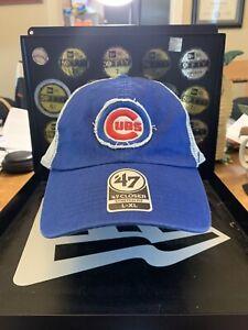 "Chicago Cubs Brand '47 Closer ""Tally"" Collection Flex Fit Baseball Hat Sz L-XL"