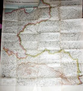 POLAND, huge map of POLAND and GALIZIA before WWI by G. Freytag, Wien, 1900`s