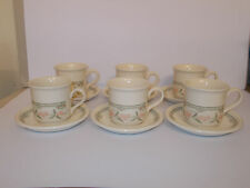 6 x Staffordshire Tableware Coffee Cups and Saucers Floral Design Lovely