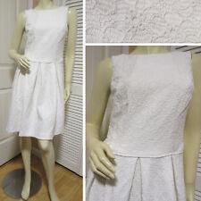 AMERICAN LIVING New Womens White Sleeveless Sheath Skater Dress 10 Party Dresses