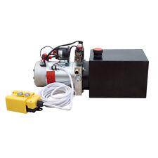 Single Acting Hydraulic Pump for Dump Trailers KTI Dc12v 6 Quart Reservoir