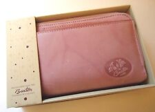 Buxton Women Leather Heiress Double Ziparound Indexer Wallet,Pink