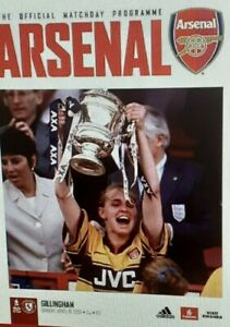 Arsenal Women V Gillingham 18.04.2021 - WOMENS FA CUP- OFFICIAL PROGRAMME