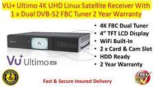 VU+ Ultimo 4K UHD Linux Satellite Receiver 1 x Dual DVB-S2 FBC Tuner In Stock