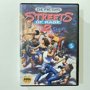 Streets of Rage 2 Sega Genesis Authentic Case Only No Game