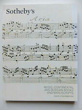 catalogue Sotheby's, russian books and manuscripts...partitions music...