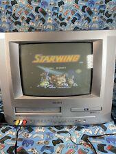 """Bush BTV183DVD/A Combi VHS DVD (faulty)TV 14"""" CRT VCR Video Retro Gaming Vintage"""