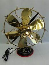 "Antique 12"" Westinghouse brass 6 blade Oscillating fan Vintage 1914 Restored"