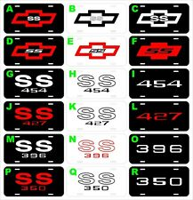 Chevy Chevrolet SS Bowtie Flame 427 454 396 350 assorted metal license plate