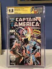 Captain America Annual #8 CGC 9.8 w/ WP - Signed By Zeck & Rubinstein 🇺🇸⚔️