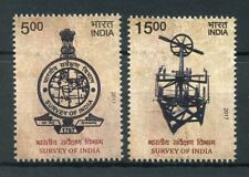 India 2017 MNH Survey of India 2v Set Surveying Engineering Maps Stamps