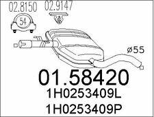 SILENCIEUX INTERMéDIAIRE POUR VW GOLF III 1.9 TDI,GOLF IV CABRIOLET 1.9 TDI