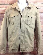 Burton of London Women's Khaki 100% Cotton Denim Full Zipper Jacket Size XL