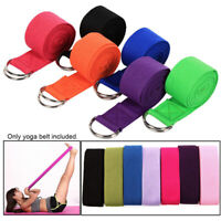 D-Ring Belt Yoga Stretch Strap Women Exercise Sport Gym Rope Fitness Accessories