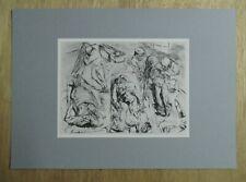 Max Beckmann serigraphic print 'Das Leichenhaus' 1915 - Mint  !!