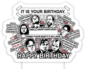 It is Your Birthday Cake Topper The Office Merchandise Birthday Decoration Party