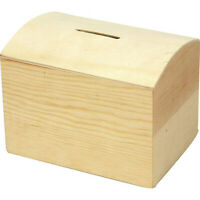 Decorate Your Own Wooden Money Box Removeable Bottom Lockable Piggy Bank 57579