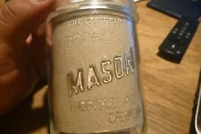 Canadian Mason Jar Bocal Made in Canada Consumers Glass Wide Mouth