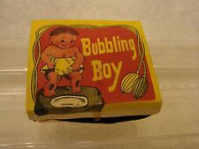 ANTIQUE BUBBLING BOY IN BOX MADE IN  JAPAN CIRCULATING SYSTEM  BY PACIFIT COMPLE