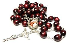 St Gianna Molla cherry RELIC rosary patron of Mothers Physicians Unborn children