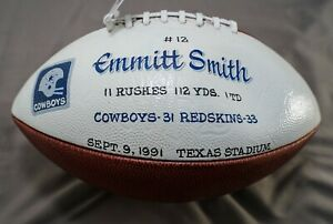 Emmitt Smith Game-Used Football Touchdown #12 Dallas Cowboys - Autographed