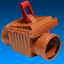 Flood Protection System Backflow Flap Dn 100 Rat Protection Diameter 110 Mm