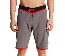 Quiksilver Men's Loc Scallop Boardshort Size 36 Metal Gray Surf Beachwear NWT