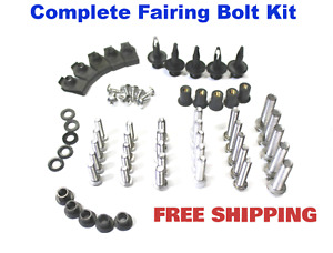 HONGK B01BN0NUPM Motorcycle Spike Fairing Bolts Kit Compatible with Honda CBR 900RR 929RR 954RR RR Silver
