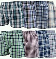 Pack of 3 MENS 100% Pure Cotton Woven Boxer Shorts Button Fly S M L XL 2XL