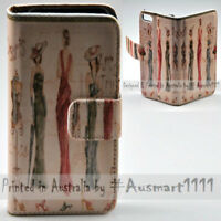 For HTC Series Mobile Phone - Paris Vintage Theme Print Wallet Phone Case Cover