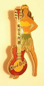 KONA Black haired girl in grass skirt red Les Paul B15-100   Logo - Hard Rock 98