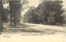 Vintage Postcard Main Street Northfield MA Franklin County
