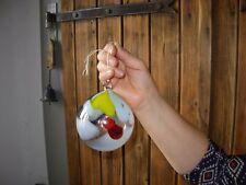 boule de noël ronde ancienne verre soufflé multicolore