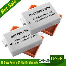 2x Battery Pack LP-E8 EOS For Canon EOS 600D 550D 650D 700D 1150mAh LPE8 UK