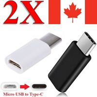 (2-PACK) Micro USB to USB C 3.1 Type C Cable Charger Adapter For S8 S9 LG G6 G7