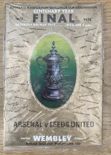 Arsenal V Leeds United 1972 FA Cup Final Match Day Programme