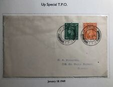 1949 Up Special England Cover Traveling Post Office To Slough