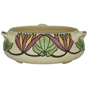 Roseville Pottery Persian Creamware 1910 Colorful Handled Bowl 316