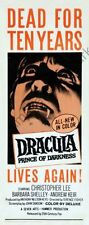 Dracula Prince Of Darkness Movie Poster Insert #01 Replica
