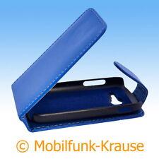Flip Case Etui Handytasche Tasche Hülle f. Samsung Galaxy Pocket 2 (Blau)