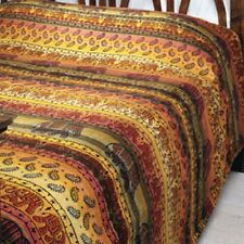 Cotton double bedspread elephant FAIR TRADE khadi throw drape cover wallhanging