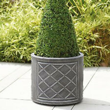 Large Round Planter Pot 44 cm Lead Effect Quality Plastic Garden Patio Flowers