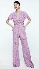 Zara Floral Pink Pants $69.90+Tax