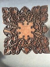 ANTIQUE ANGLO INDIAN WOODEN CARVED GRAPES & VINE LEAVES OCCASIONAL TABLE