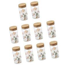 10Pcs Glass Canister Snack Sugar Treat Tea Storage Jar With Cork Kitchen NEW