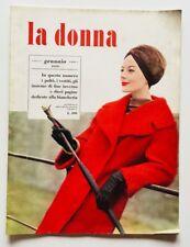 La donna Rivista moda fashion vintage Gennaio 1959 Paltò vestiti Anni cinquanta